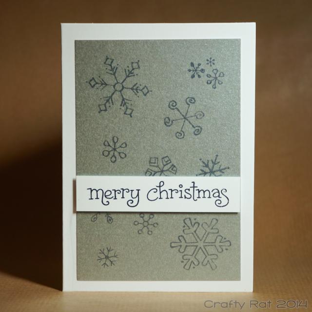 Xmas gift card: Snowflakes