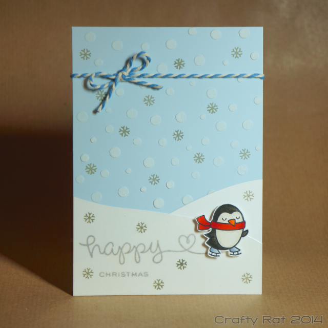 Xmas card: Penguin