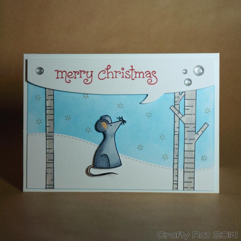 Xmas card: Rat in the snow