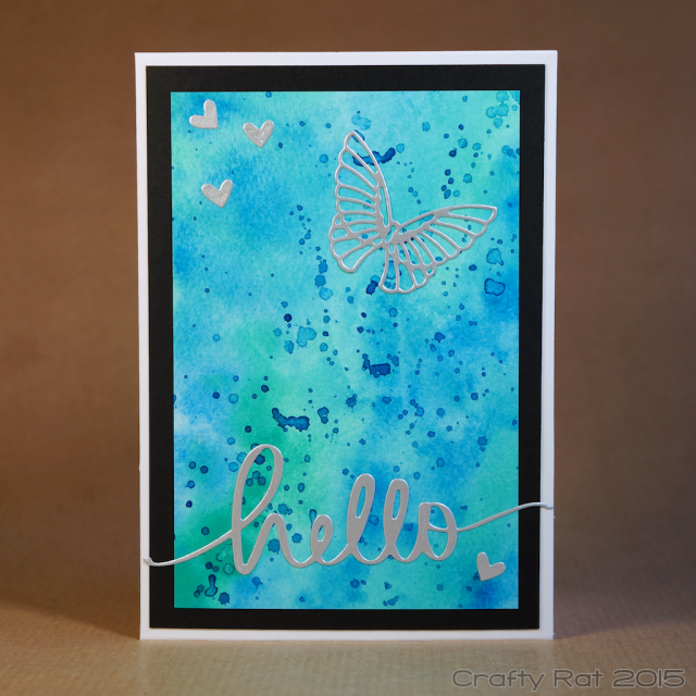 Watercolour hello card