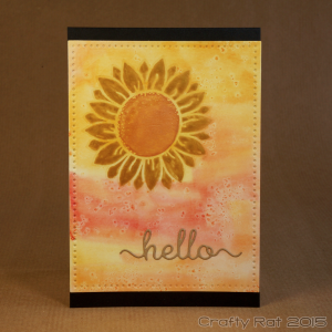 Watercolour sunflower