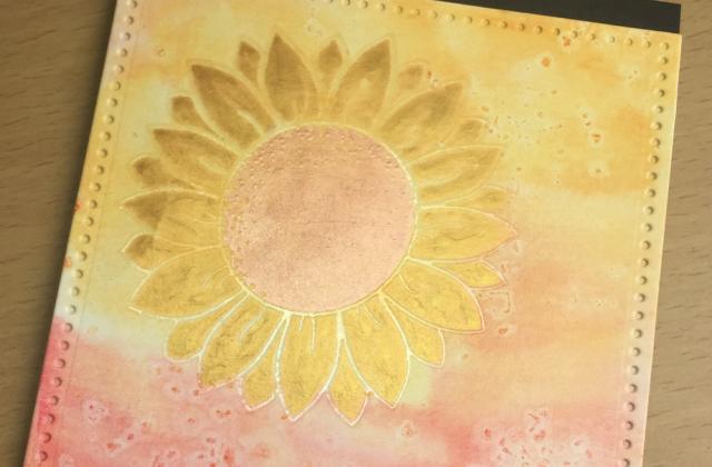 Shiny sunflower detail