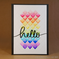 Watercolour rainbow lattice