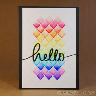 Watercolour rainbow lattice