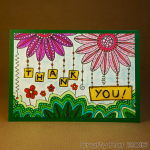 Doodled thank you