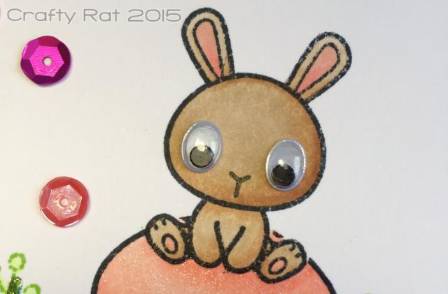 Googly-eyed bunny