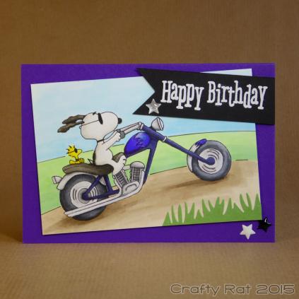 Snoopy on a bike