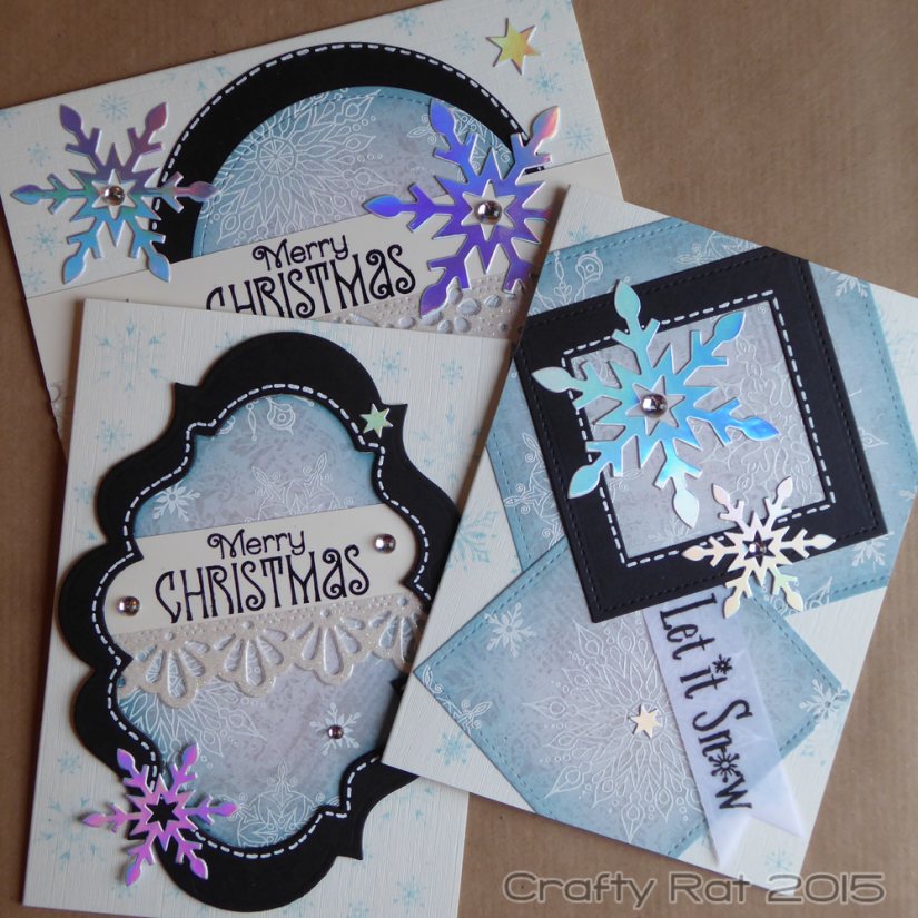 All embossed snowflake cards