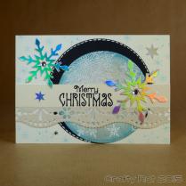embossed snowflakes - circle