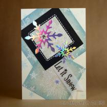 embossed snowflakes - squares