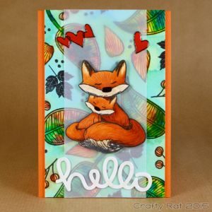fox and leaves
