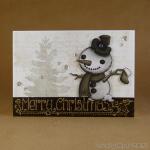 monochrome snowman