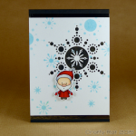 Santa and snowflake card