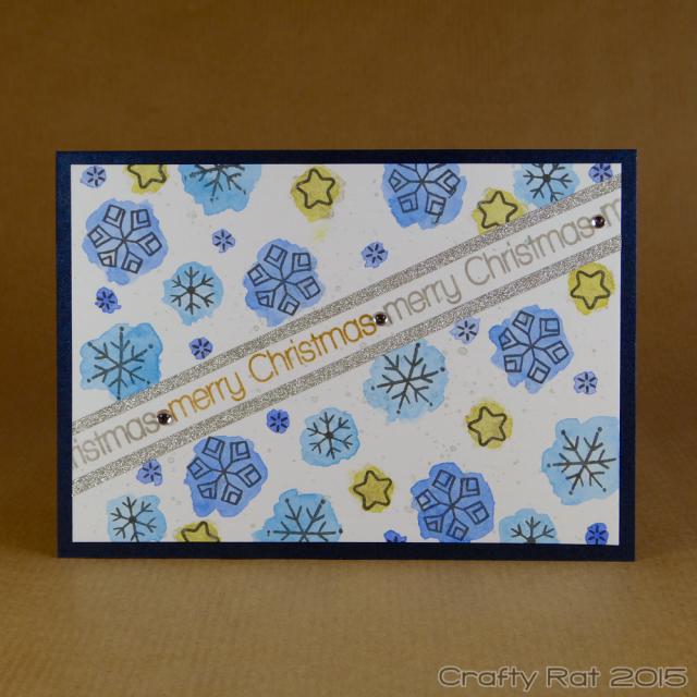 watercoloured snowflakes