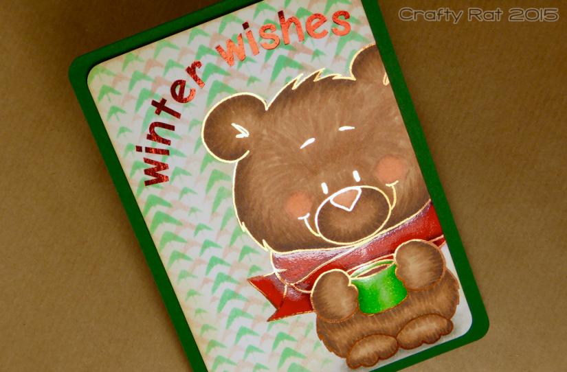 Winter wishes bear - foil