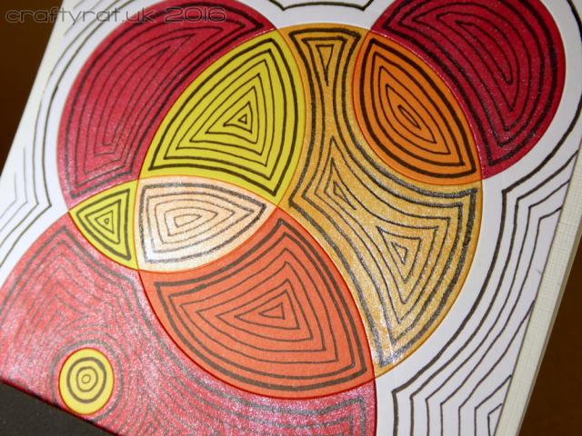 doodled die-cut circles - detail