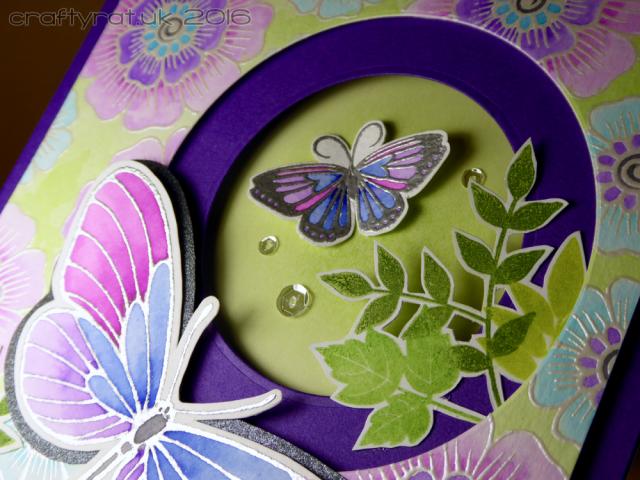 embossed butterflies - detail