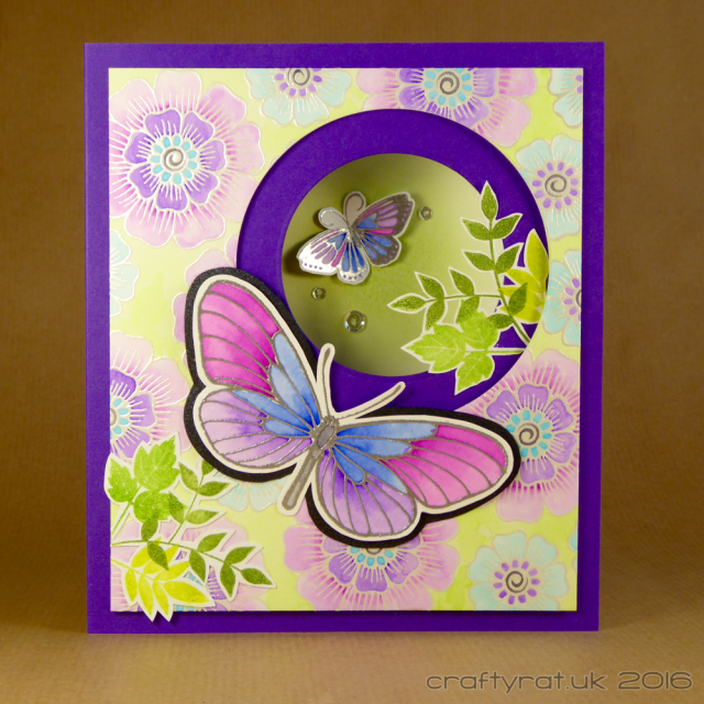 embossed butterflies