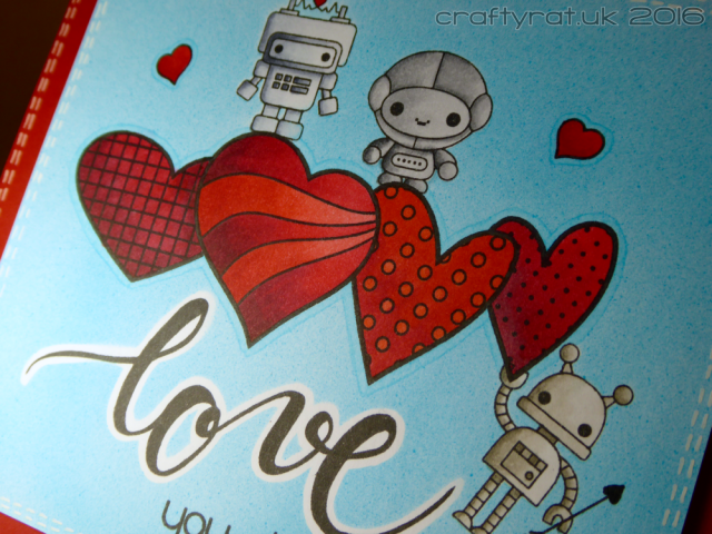 Valentine's card - detail