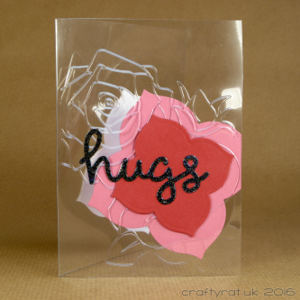 CR00247 embossed acetate hugs