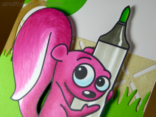 pink squirrel - detail