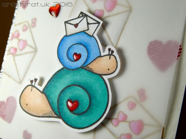 Happy mail snails - detail