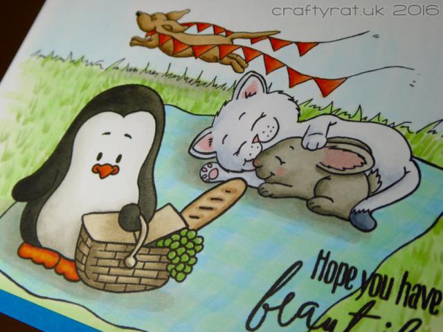 penguin picnic - detail