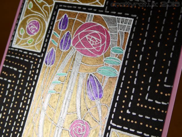 Art deco roses - detail