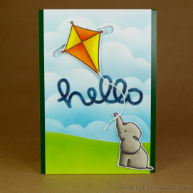 CR00284 Elephant & kite