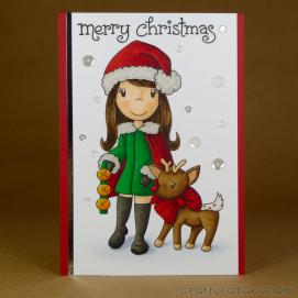 CR0280 Girl with reindeer