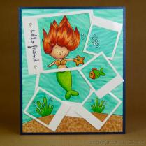 CR00285 Polaroid mermaid