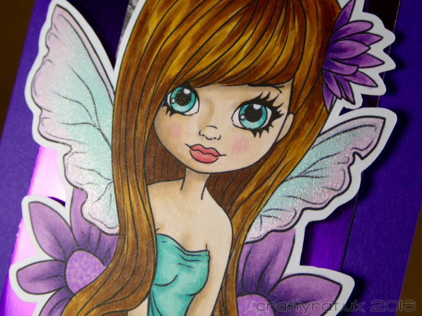 purple fairy - detail