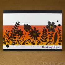 CR00271 Sunset silhouette flowers