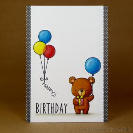 CR00291 Bear and balloons