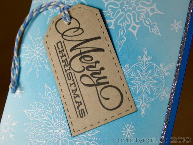 snowflake and tag 5 - detail