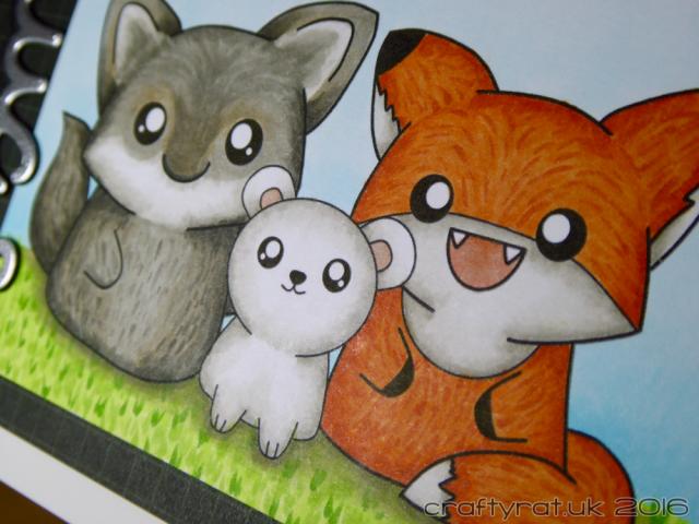 wolf, fox, bear - detail
