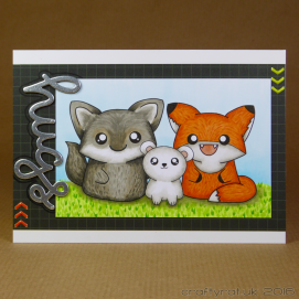 CR00294 Wolf, fox & bear