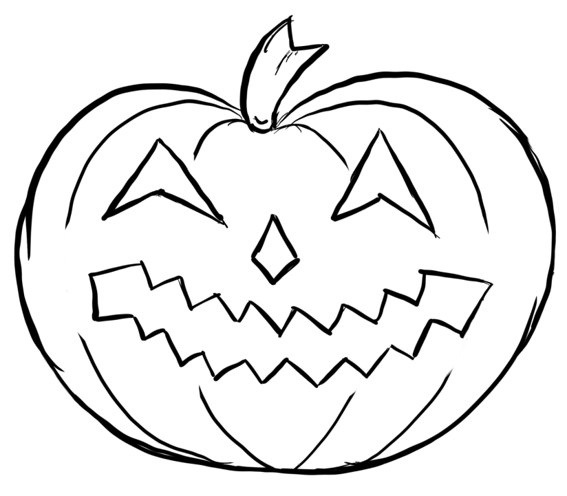 CraftyRat sketched pumpkin
