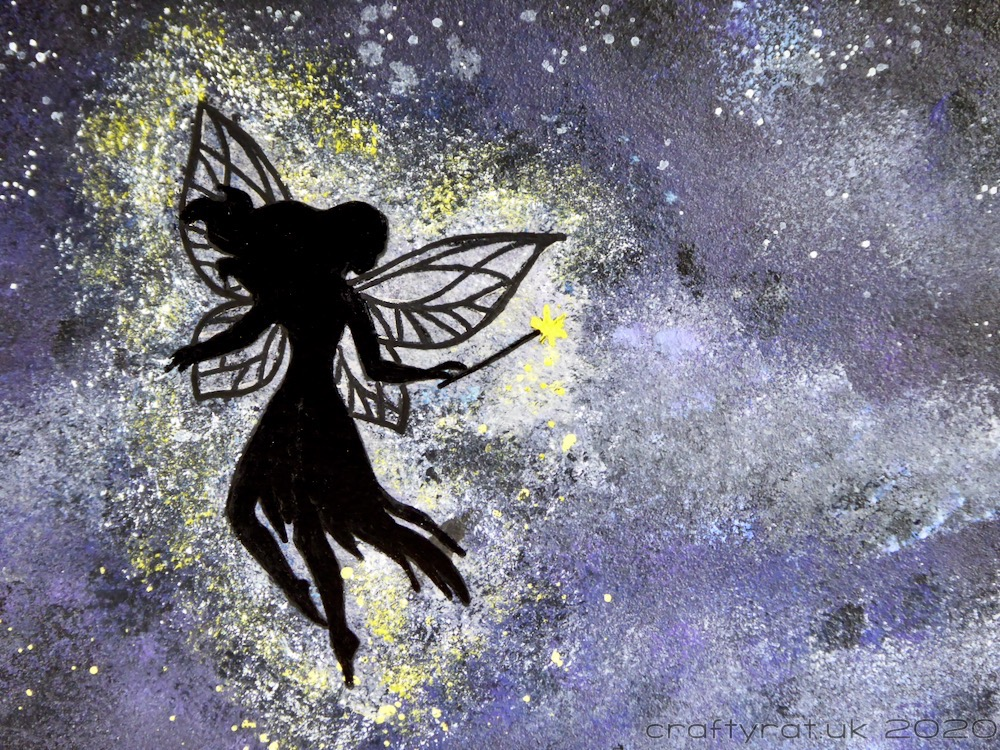 Close-up of the fairy silhouette.