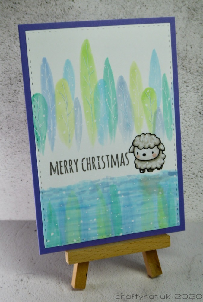 The card displayed on a small wooden easel.