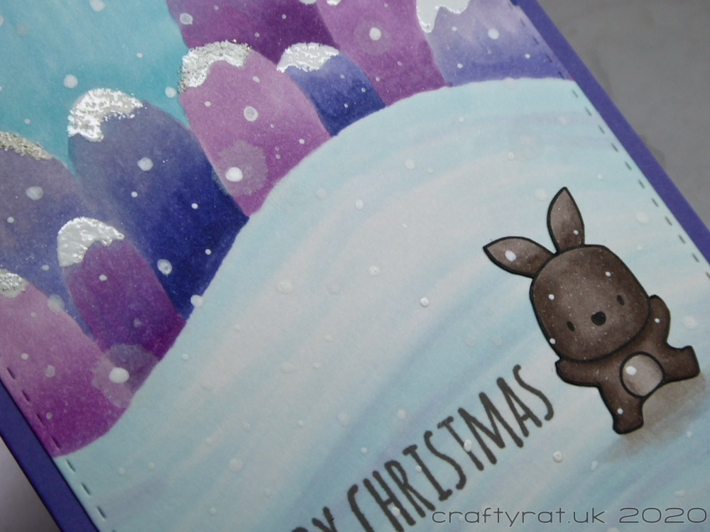 Close-up of the bunny and the centre of the card.