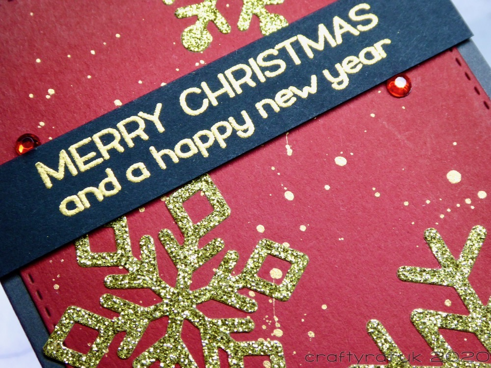 Close-up of the Christmas card.