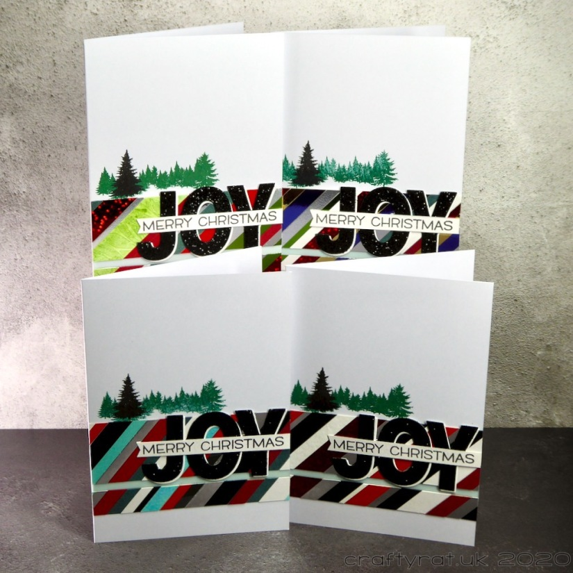 All four variants of the card design.